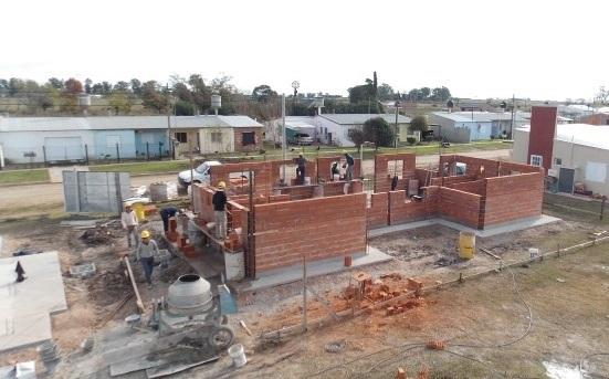 Inició la construcción de las viviendas para afiliados a SADOP