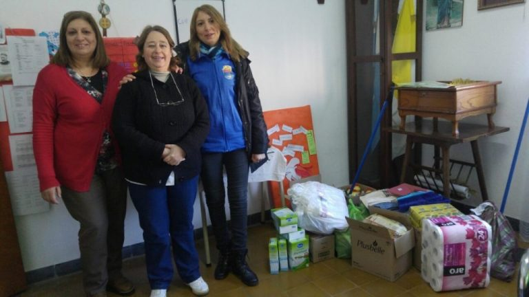 Parte de las donaciones recibidas llegaron a Las Cuevas y Villa Libertador San Martín.