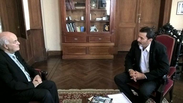 Sergio Pesoa se reunió con el Arzobispo de Paraná