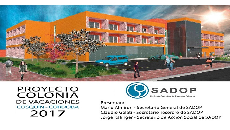 SADOP construirá un complejo turístico en Cosquín