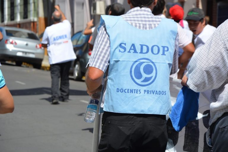 Declaraciones radiales de Martín Herrera en el marco de la Marcha Federal.