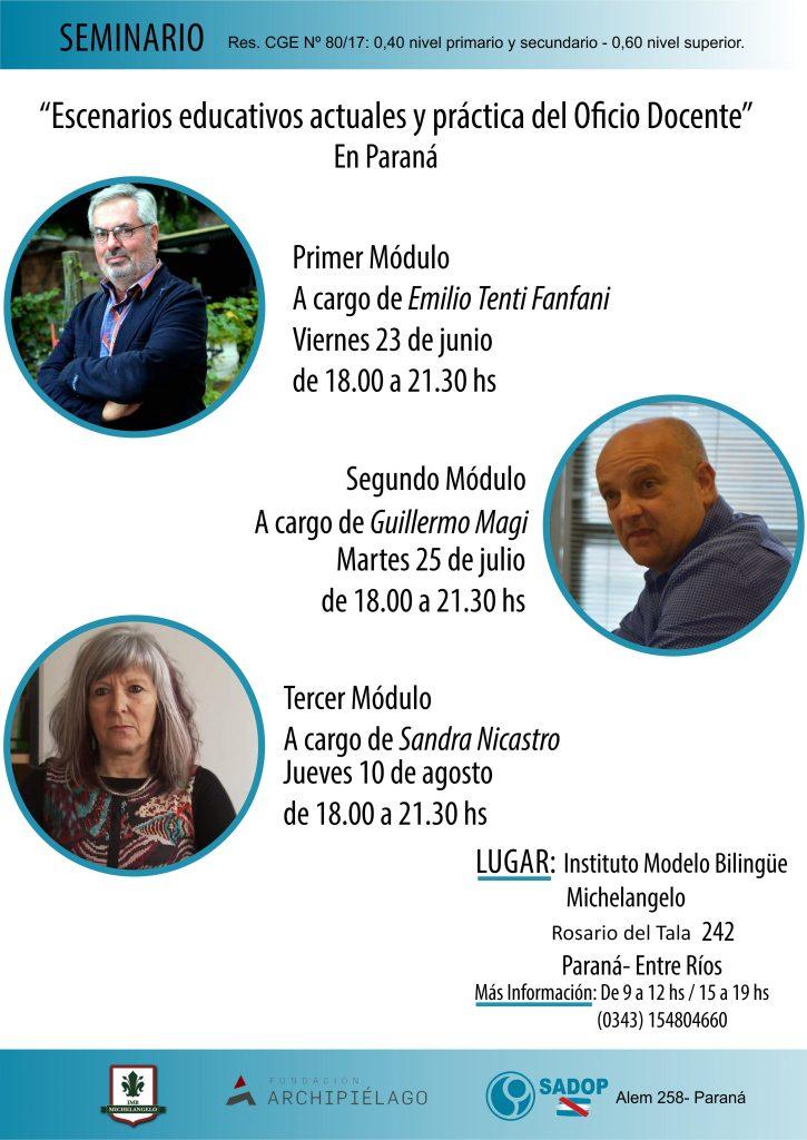 SADOP y la Fundación Archipiélago avanzan en el convenio firmado ofreciendo una capacitación en Paraná y Concepción del Uruguay.