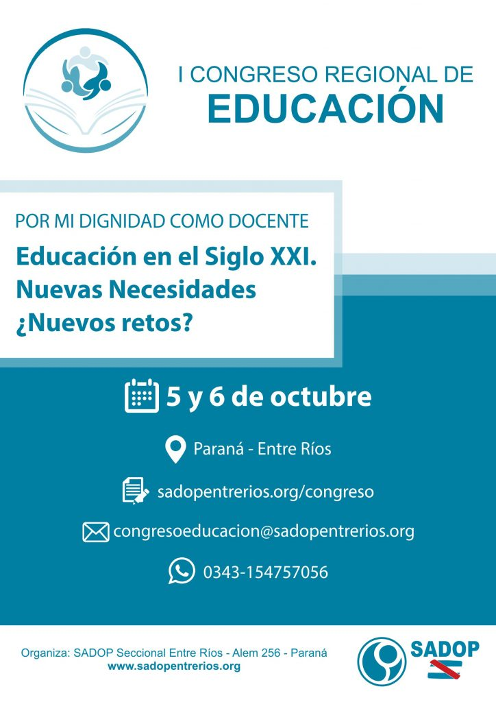 Alejandra Frank difundiendo el I Congreso Regional de Educación