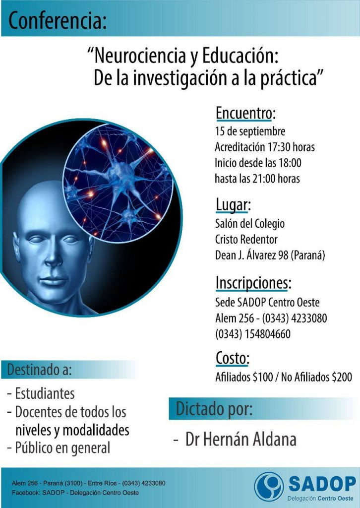 Hablemos de Neurociencia y Educación