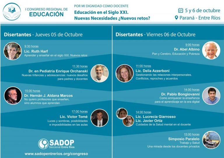 Nos preparamos para el I Congreso Regional de Educación de SADOP Entre Ríos