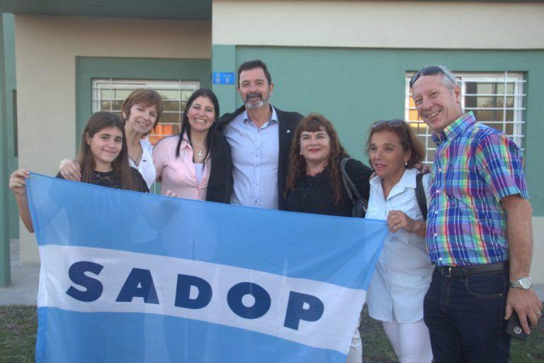 Entrega de viviendas en María Grande para afiliados a SADOP