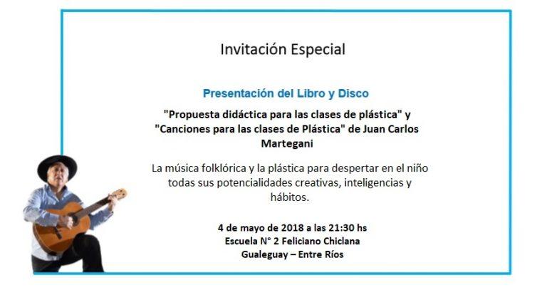 """Presentación del libro y CD """"Propuesta didáctica para las clases de plástica"""" de Juan Carlos Martegani"""