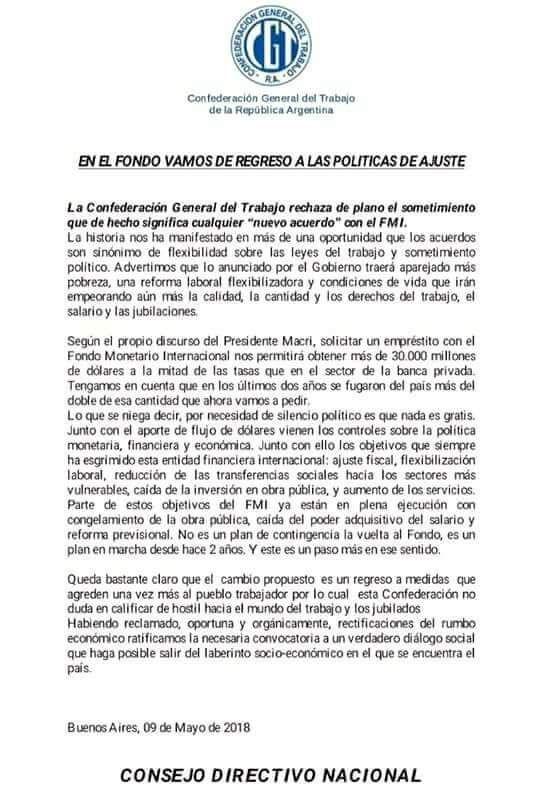 EN EL FONDO VAMOS DE REGRESO A POLÍTICAS DE AJUSTE