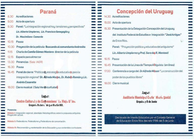 II Jornadas Interdisciplinarias Congreso de los Pueblos Libres