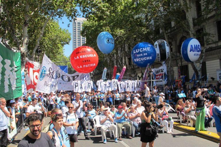 SADOP Entre Ríos se movilizó a Plaza de Mayo