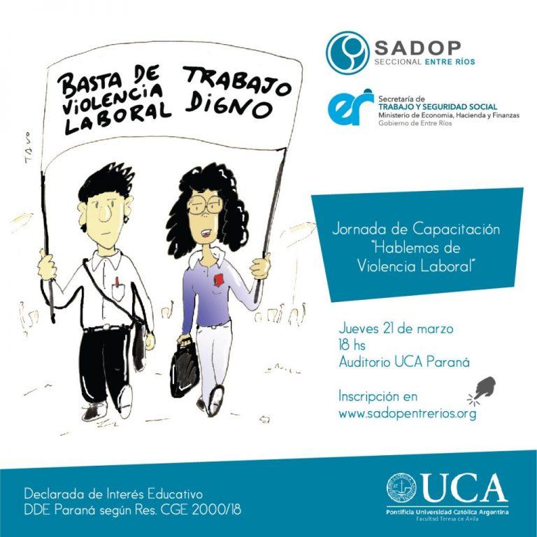 SADOP lanza campaña contra la Violencia Laboral