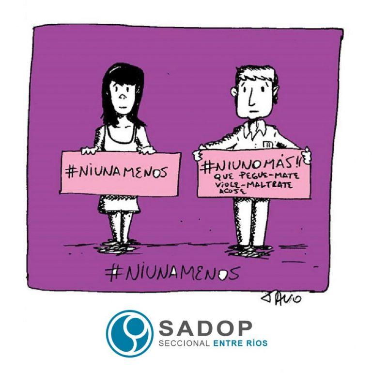 #NiUnaMenos: SADOP se moviliza