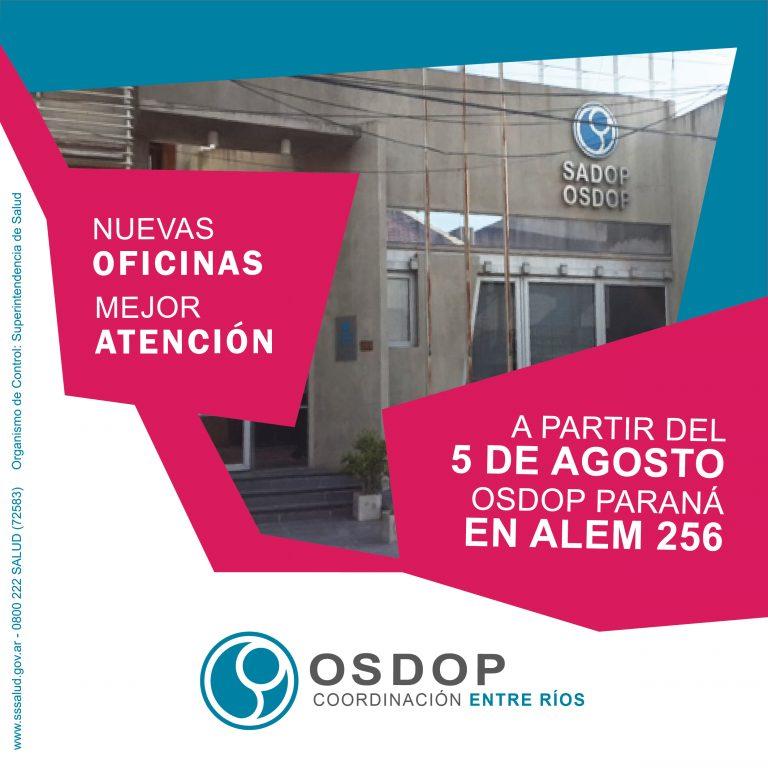 Nuevas oficinas de OSDOP en Paraná