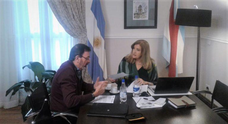 Sergio Pesoa se reunió con la Ministra de Gobierno y Justicia