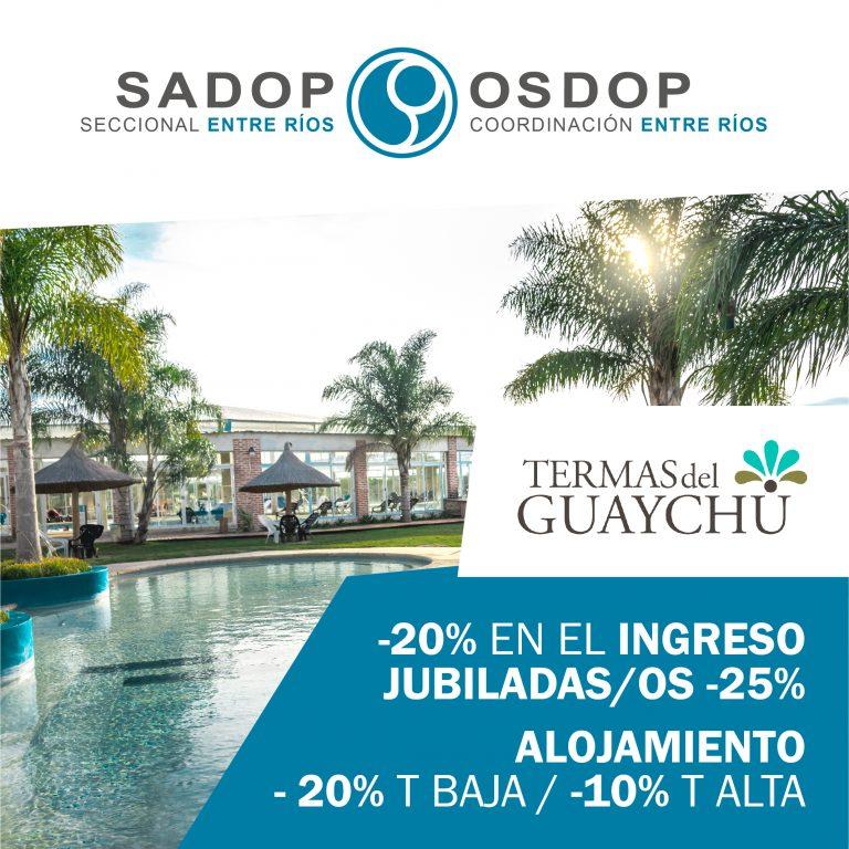 Disfrutá las Termas del Guaychú con SADOP