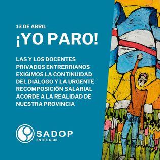 SADOP Entre Ríos ratifica el paro