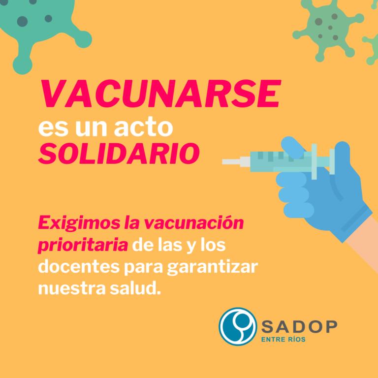 Avances en el plan de vacunación docente